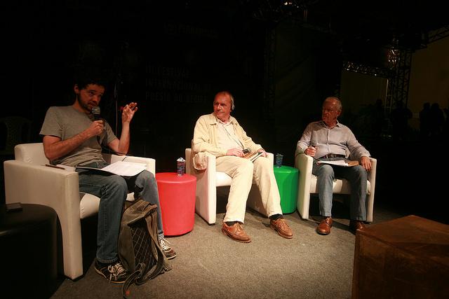 """Conversa """"Para traduzir o sagrado"""" contou também com a presença de Everardo Norões. Foto: Otávio de Souza"""