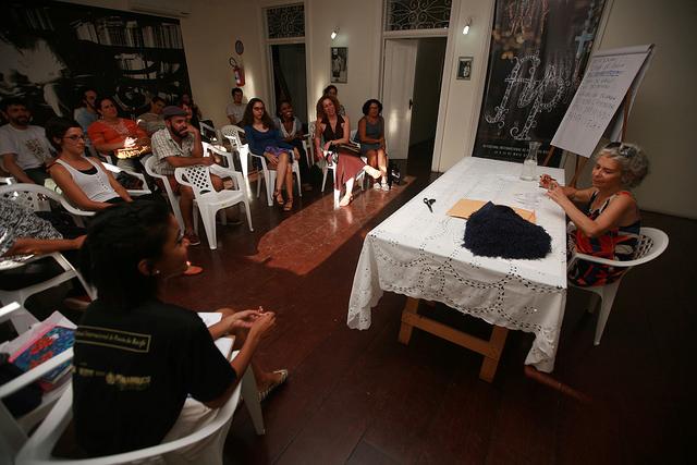 Oficina com Alice Ruiz foi destaque da grade de formação cultural do festival. Foto: Otávio de Souza/Secult-PE